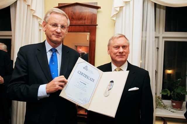 Carl Bildt and Trimivi Velliste