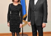 Islandi suursaadik Elin Flygenring ja Eesti Vabariigi President Toomas Hendrik Ilves