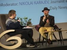 Nikolai Karajev, Postimehe venekeelse toimetuse ajakirjanik ja Mike Collier, ajakirjanik ja kirjanik, Läti/Suurbritannia