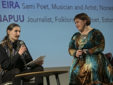 Ott Heinapuu, ajakirjanik, folklorist ja luuletaja ning Rawdna Carita Eira, saami poetess, muusik ja näitleja, Norra