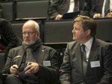 Norra suursaadik Dagfinn Sørli ja konverentsi korraldaja, Põhjamaade Ministrite Nõukogu Eesti esinduse nõunik Madis Kanarbik