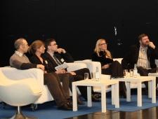 Arutelu, osalevad Riigikogu liikmed Kadri Simson, Mart Nutt, Sven Mikser; prof. Trine Lund Thomsen ja prof. Mihails Hazans