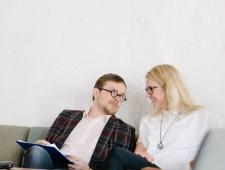Loomeettevõtluse akadeemia 2017: seminari moderaator Jüri Muttika ja korraldaja Grete Kodi
