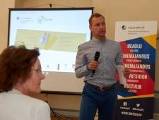 Loovusfoorumi moderaator Stanislav Nemeržitski, Tallinna Ülikooli Kunstide Instituudi loovusõpetuse lektor ja kasvatusteaduste doktorant