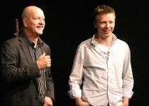 Malte Lind (Rootsi Raadio, analüüsijuht) ja Emanuel Karlsten (Rootsi ajalehe Dagen toimetaja)