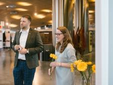 Okupatsioonide muuseumi näituste juht Sander Jürisson ja direktriss Merilin Piipuu