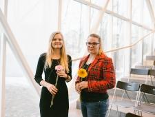 Emilie Toomela ja Inimõiguste Instituudi projektijuht Kai Reinfeldt