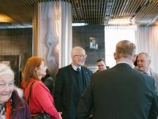 Anu Elmi Norra saatkonnast ning Norra suursaadik Dagfinn Sørli.