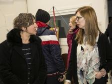 Tartu Kunstimuuseumi direktor Rael Artel ja näituse kuraator Maija Rudovska