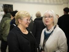 Kultuuriministeeriumi nõunik Annely Reimaa ja PMN Eesti esinduse kultuurinõunik Eha Vain