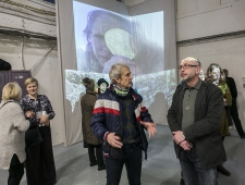 Kunstnik Marko Mäetamm ja EKL-i juht Vano Allsalu