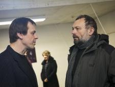 ARSi Projektiruumi juht Indrek Köster ja kunstnik Jaan Toomik