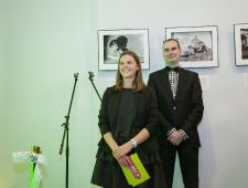 Darja Saar, ETV+ peatoimetaja ja Jevgeni Timoštšuk, PMNi Narva filiaali programmi koordinaator