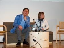 Läti kirjanik Nils Sakss ja Eesti kirjanik Eeva Park