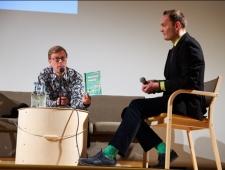 Soome/Eesti kirjanik Mika Keränen ja emakeeleõpetaja Edward Kess