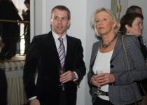 Euroopa Kultuuripealinn Tallinn 2011 juhatuse liige Jaanus Mutli ja Norra suursaadik Tallinnas, pr Lise Kleven Grevstad