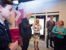 Kultuurinädala vastuvõtt Narva kontoris: Rootsi suursaadik Anders Ljunggren, Islandi aukonsul Helen Tälli, Fredrik Nordin Rootsi suursaatkonnast, Kirke Torpan Taani suursaatkonnast.