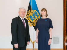 Põhjamaade Ministrite Nõukogu peasekretär Dagfinn Høybråten ja president Kersti Kaljulaid