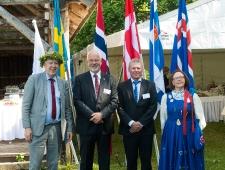 Põhjamaade suursaadikud Eestis (vasakult): Anders Ljunggren (Rootsi), Dagfinn Sørli (Norra), Søren Kelstrup (Taani) ja Kirsti Narinen (Soome)