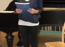 Minna Toots loeb ette katkendit äsja ilmunud raamatust