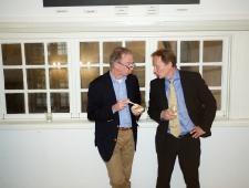 Jan Widberg, Põhjamaade Ministrite Nõukogu Läti kontori direktor ja Kenneth Broman Põhjamaade Ministrite Nõukogu sekretariaadist